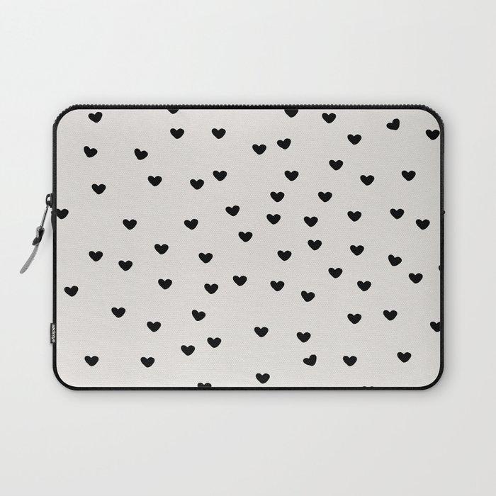 Lots of Little Hearts Brush Strokes Pattern Laptop Sleeve