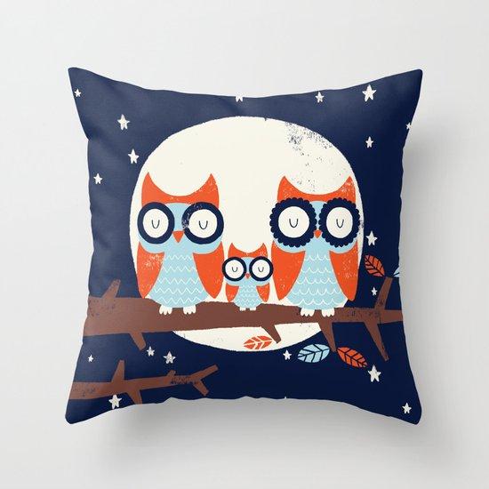 Night Owls Throw Pillow