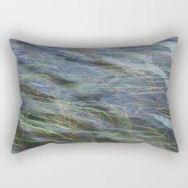 LAKE GRASS AND WATER NATURAL ABSTRACT Rectangular Pillow