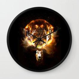REIN FIRE DEER Wall Clock