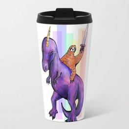 sloth dinosaur unicorn Travel Mug