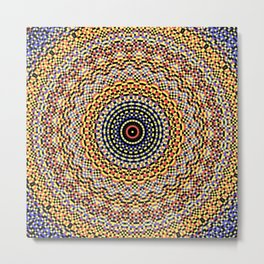 New Color Pyramidal Mandala 49 Metal Print