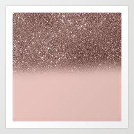 Rose Gold Glitter Ombre Kunstdrucke