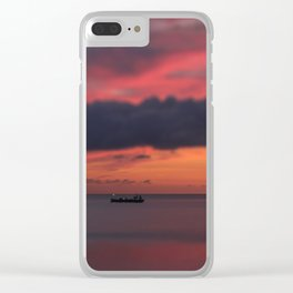 Tiny Sunset Clear iPhone Case