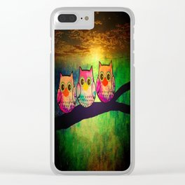 owl-193 Clear iPhone Case