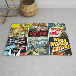 50s Sci-Fi Movie Poster Collection No. 1 Rug