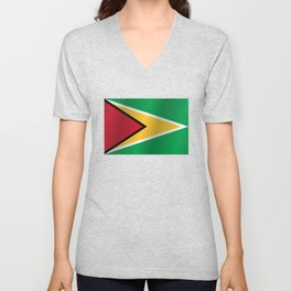 Guyana Flag - National Guyanese Republic Symbol Unisex V-Neck