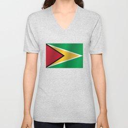 Guyana Flag - National Guyanese Republic Symbol Unisex V-Neck