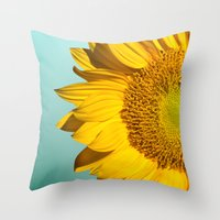 Throw Pillows featuring flowers by mark ashkenazi