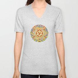 Gypsy Boho Chic Hexagons Unisex V-Neck