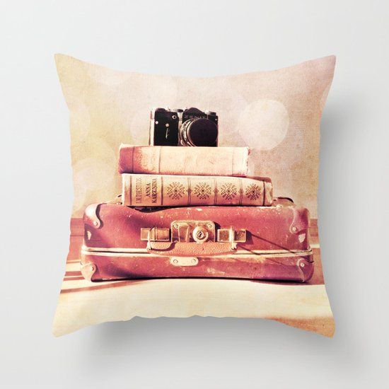 Still Life With Portmanteau Throw Pillow