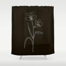 Amancay Wildflower in black Shower Curtain