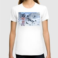 raven T-shirts featuring Raven by Radical Ink by JP Valderrama