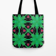 Tropical Gothic Pattern  Tote Bag