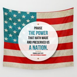 Preserved us a Nation Wall Tapestry