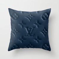 lv Throw Pillows featuring Blue LV by I Love Decor