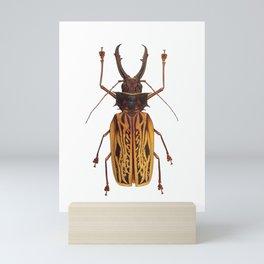 Macrodontia Cervicornis Sabertooth Beetle Mini Art Print
