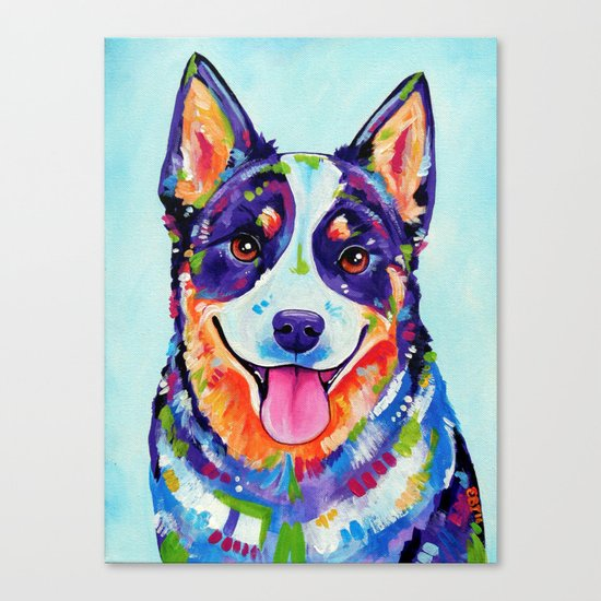 Australian Cattle Dog Canvas Print