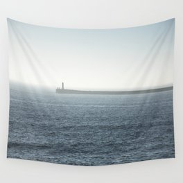 Fog on the beach Wall Tapestry