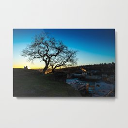 Lovers at Sunset Metal Print