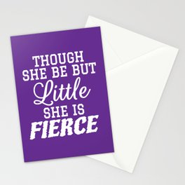 Little & Fierce (Purple) Stationery Cards