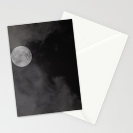Moon behind the clouds Stationery Cards