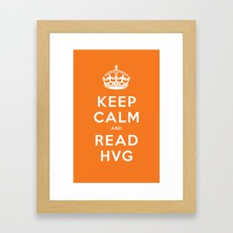 Keep calm and read HVG Framed Art Print