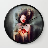 fitzgerald Wall Clocks featuring Bonhomie by adroverart
