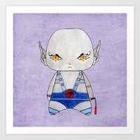 thundercats Art Prints featuring A Boy - Panthro (Thundercats) by Christophe Chiozzi