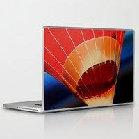 hot air balloon Laptop & iPad Skins featuring Hot Air Balloon by DistinctyDesign