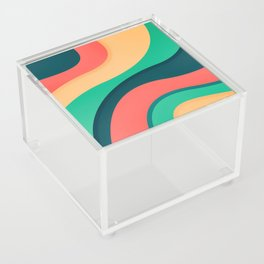 The river, abstract painting Acrylic Box