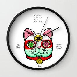 Good Luck Dizzy Cat Odyssey by Donut Matter Wall Clock