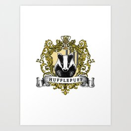 Hufflepuff Color Crest Art Print