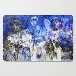 Blue Symphony of Angels Cutting Board