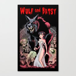 Wulf and Batsy in Bizarre Experiments Canvas Print