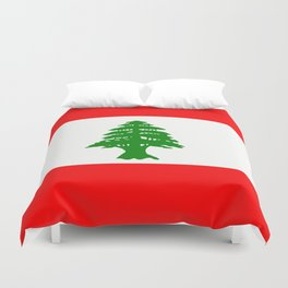 Flag of Lebanon Duvet Cover