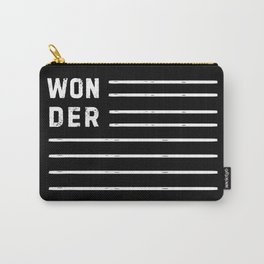 WONDER STRIPES (black) Carry-All Pouch