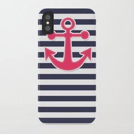 12 Blue , white , striped iPhone Case