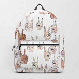 peace and love Backpack