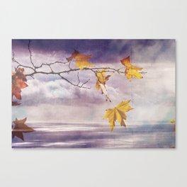 Faded Leaves - JUSTART © Canvas Print