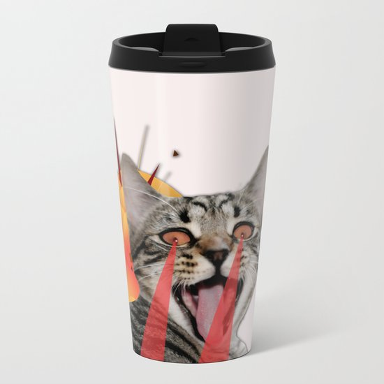 CAT ATTACK! Metal Travel Mug