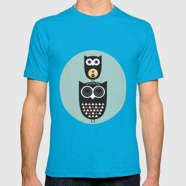 Owl décor - modern nursery art - geometric pattern T-shirt