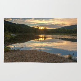 Lily Pond Sunset Rug