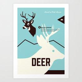 Wildlife of North America: Deer Art Print