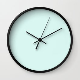Light Cyan Soft Mint Green Solid Matte Colour Palette Wall Clock