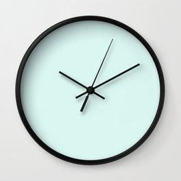 Light Cyan Soft Mint Green Solid Matte Colour Palette Wall Clock