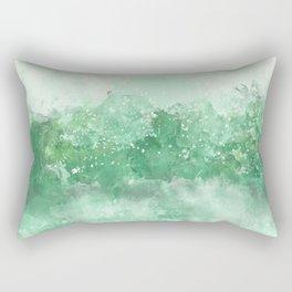 Choppy Turquoise Ocean Water Rectangular Pillow