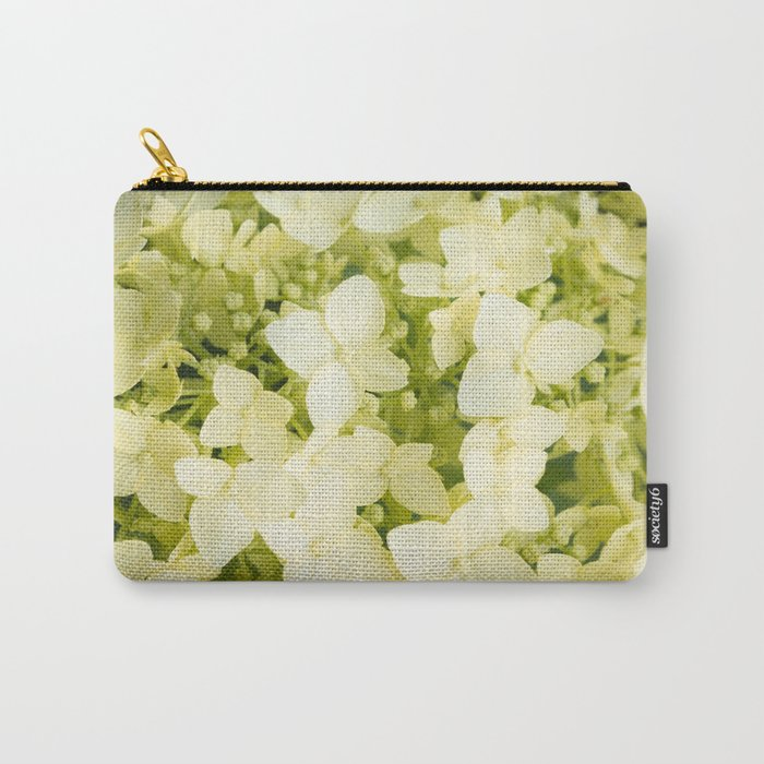 The flowers of white hydrangeas. Carry-All Pouch