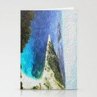 greek Stationery Cards featuring Greek coastline by Brian Raggatt