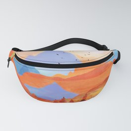 Sunrise Over the Fall Mountain Peaks Fanny Pack